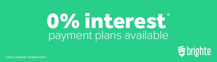 0% interest payment plans available